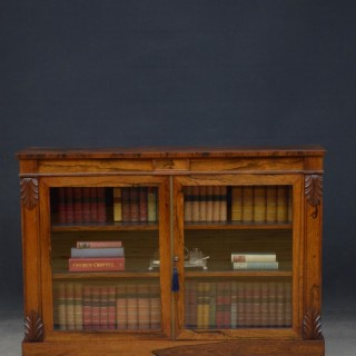 William IV Rosewood Chiffonier / Bookcase