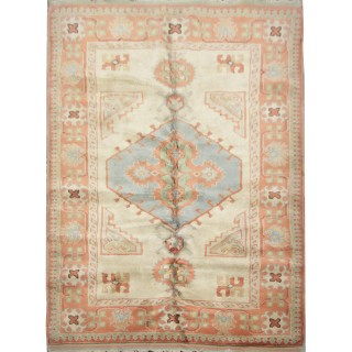 Handwoven Turkish Milas Carpet, Oriental Wool Area Rug- 145x220cm