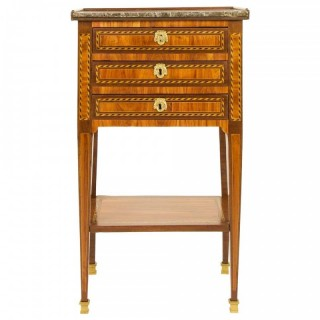 French 18th Century Small Marquetry Louis XVI Side Table or Writing Table