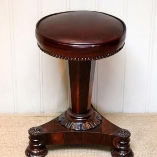 William IV Rosewood Piano Stool