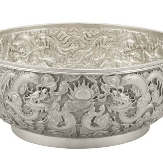 Chinese Export Silver Bowl - Antique Circa 1900