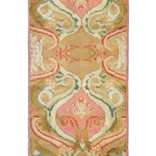 Handmade English Wool Runner Rug, Long Traditional Axminster Carpet- 48x307cm