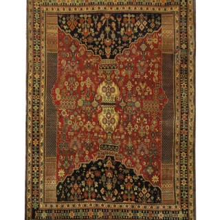 Handwoven Persian Rug, Oriental Shiraz Carpet Traditional Runner Rug- 157x240cm