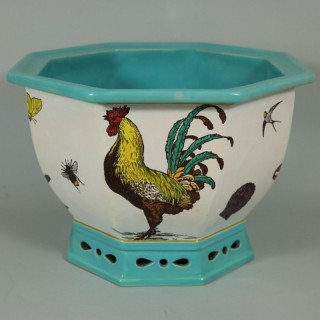 Minton Majolica 'Naturalist' Jardiniere by W.S Coleman