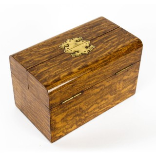 Antique Victorian Oak Cigar Humidor Casket By H. Greaves 19th Century