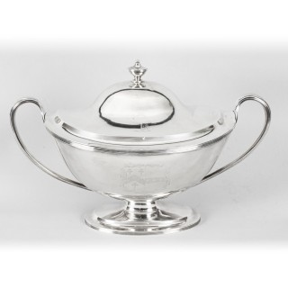 Antique Silver George III Tureen William Bennett 1808 Birchall and Hayne 19th C