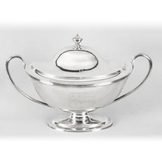 Antique Silver George III Tureen William Bennett 1808 Birchall and Hayne 19th C