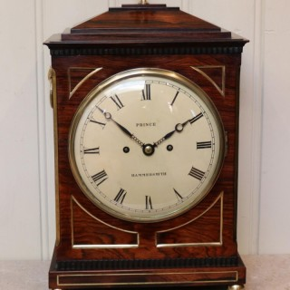 Rosewood Chamfer Top Bracket Clock