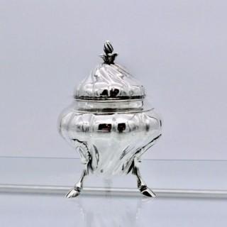 Antique Silver Maltese Sugar Bowl Circa 1785 Giuseppe Maniscalco di Andrea