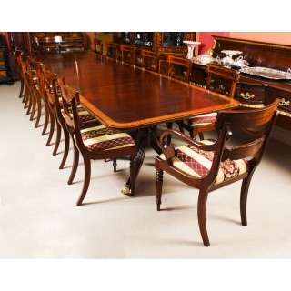 Antique 14ft Regency Metamorphic Dining Table 19th C & 14 chairs