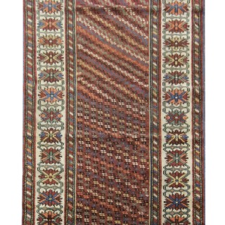 Handwoven North West Persian Area Rug, Traditional Oriental Wool Carpet- 103x233cm