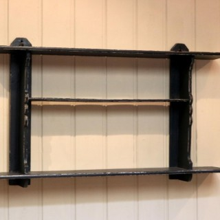 Rustic French Painted Wall Shelves