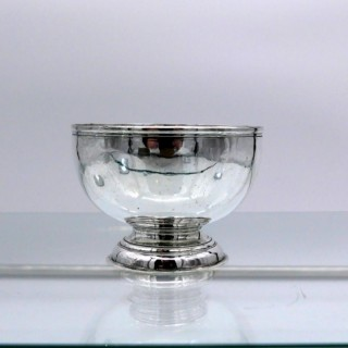 Early 18th Century Antique George I Sterling Silver Sugar Bowl London 1724 William Dicker