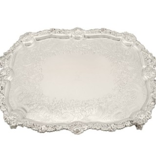 Sterling Silver Tea Tray - Antique George IV (1824)