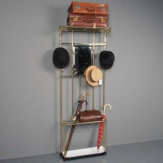 Antique Victorian Cast Brass Hall Stand