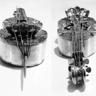 Antique Miniature Silver Double Bass