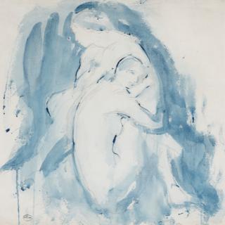 Ambrose McEvoy 'Study of Two Nudes' c. 1910-15