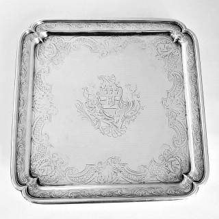 George II Silver Salver By Paul De Lamerie