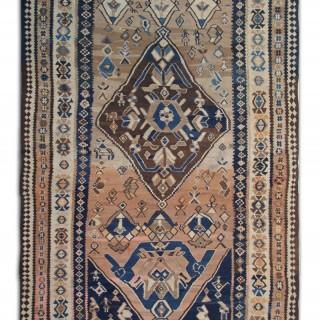Antique Persian Carpet, Handwoven Wool Oriental Persian Design- 205x408cm