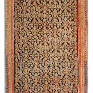 Antique Persian Rug, Traditional Handwoven Senneh Carpet Rug- 124x190cm