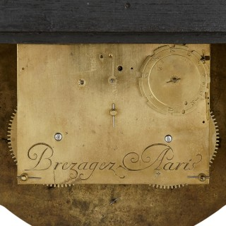 Antique 18th Century Boulle Bracket Clock by Brezagez and Marchand