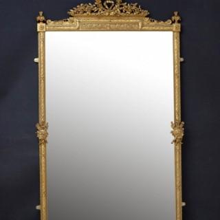 Superb 19th Century Giltwood Mirror H186cm