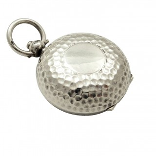 Antique Sterling Silver 'Golf Ball' Sovereign Case 1912