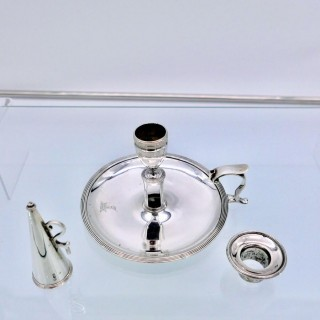 Antique George III Sterling Silver Chamberstick London 1792 Henry Chawner