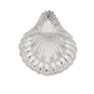 Antique Edwardian Sterling Silver Shell Dish 1905