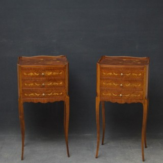 Pair of Kingwood Bedside Cabinets / Chests