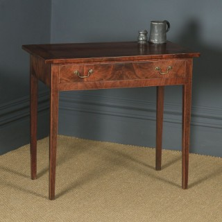 Antique English Georgian Flame Mahogany Occasional Side Hall Writing Table (Circa 1780)
