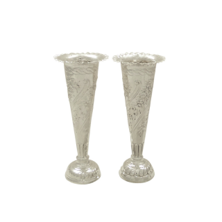 Pair of Antique Victorian Sterling Silver 5 1/4