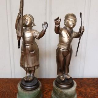 Pair Of Dutch Figures