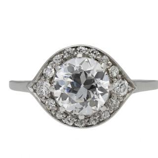 Edwardian diamond cluster ring, circa 1915.
