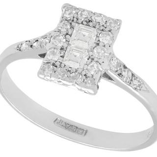 0.33 ct Diamond and Platinum Dress Ring - Antique Circa 1920
