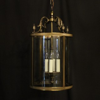 French Gilded Four Light Convex Hall Lantern