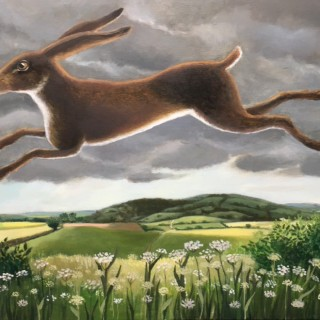Leaping Hare by Eleanor Fein