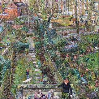 Back Gardens, Summer by Melissa Scott Miller