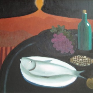Picnic Under Mount Etna by Mary Fedden