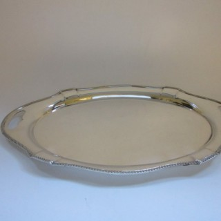 Antique George V Sterling Silver Tray - 1926