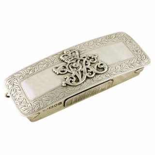 Sterling Silver Military Dress Cartridge Box