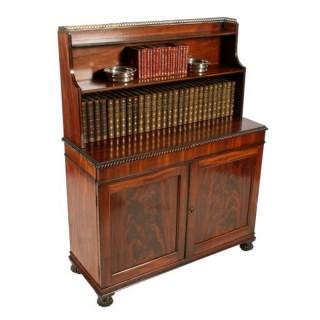 Regency Mahogany Cabinet Bookcase