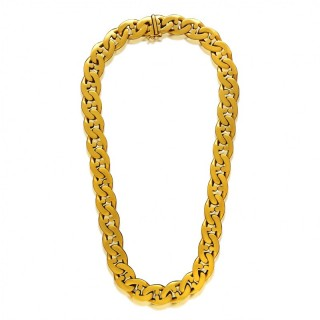 Vintage Classic 18ct Yellow Gold Mariner Link Chain Necklace by Bulgari