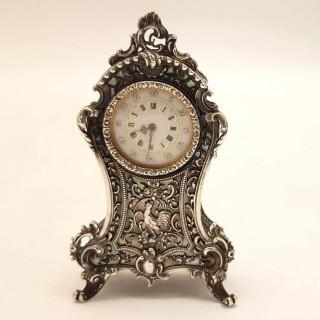 Antique Silver Clock