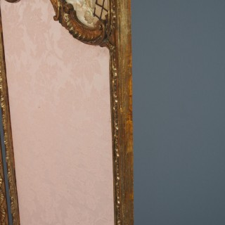 French Louis XV Style Giltwood 3-Fold Screen