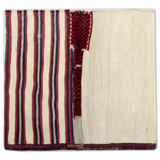Handmade Flatweave Lori Kilim, Traditional Persian Rug- 118x130cm