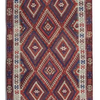 Handmade Anatolian Kilim, Traditional Oriental Flat-weave Turkish Rug- 160x285cm
