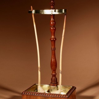 A very decorative and Rare Mahogany and Brass Clay Pipe Stand, circa 1820