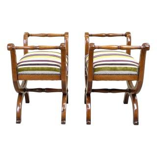 Walnut 19th Century Pair Of Window Seats