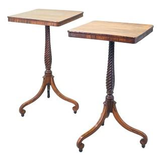 Regency Rosewood Pair Of Wine Tables